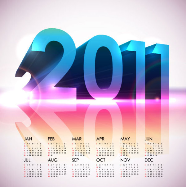 cool calendar 2011 vector design download free vectors graphic design