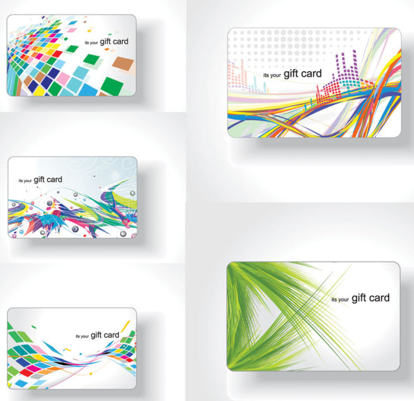 Colorful-cards-vector-material-flow