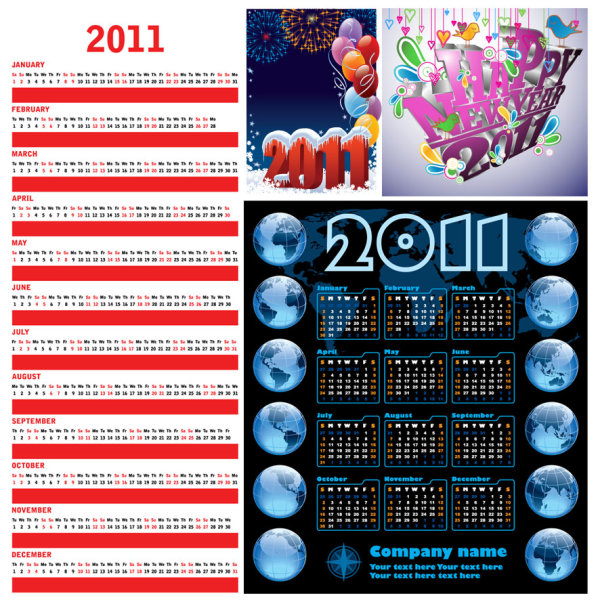 Download Vector File. 2011-calendar-template-vector. Related content: