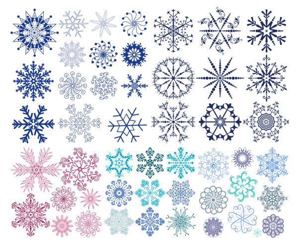 christmas decorative snowflakes vector download free. Black Bedroom Furniture Sets. Home Design Ideas