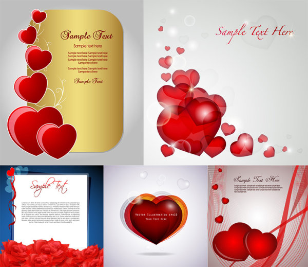 Romantic-love-cards-vector