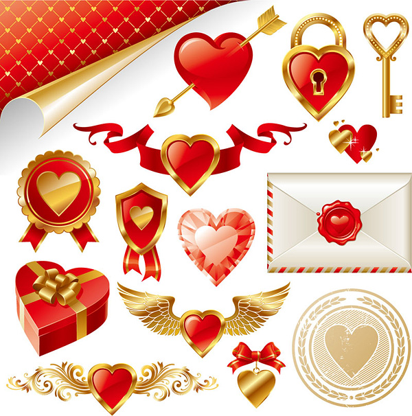 Valentines Day Vector Art. Valentine#39;s Day Theme Vector