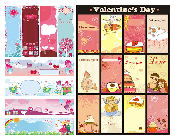 Valentine holiday banner stock