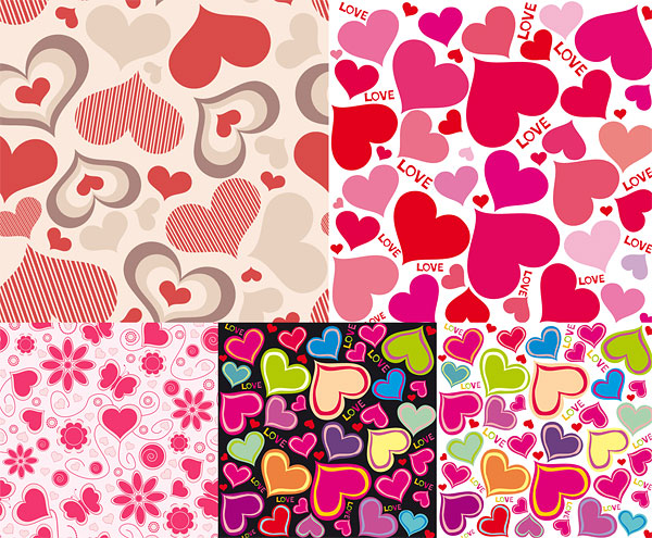 background-of-hearts-vector