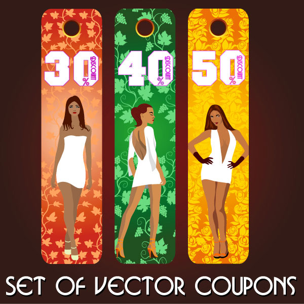 Fashion label - Set of vector Coupon