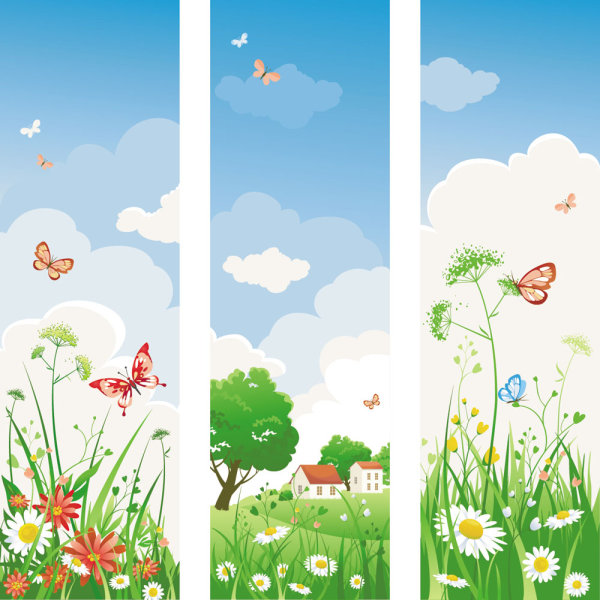 Spring of banner Vector