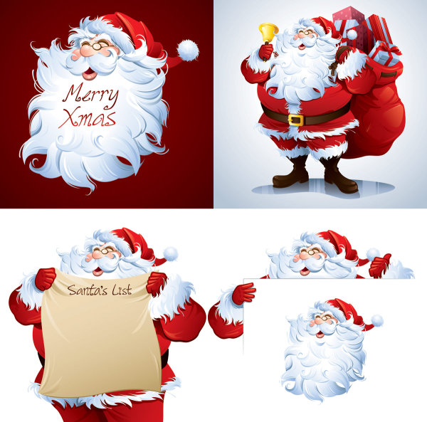 Cartoon-Santa-Pictures-Vector