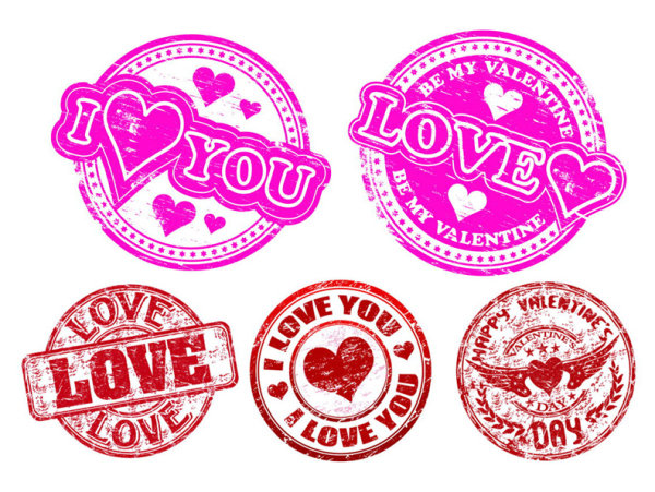 Stamp Love vectors