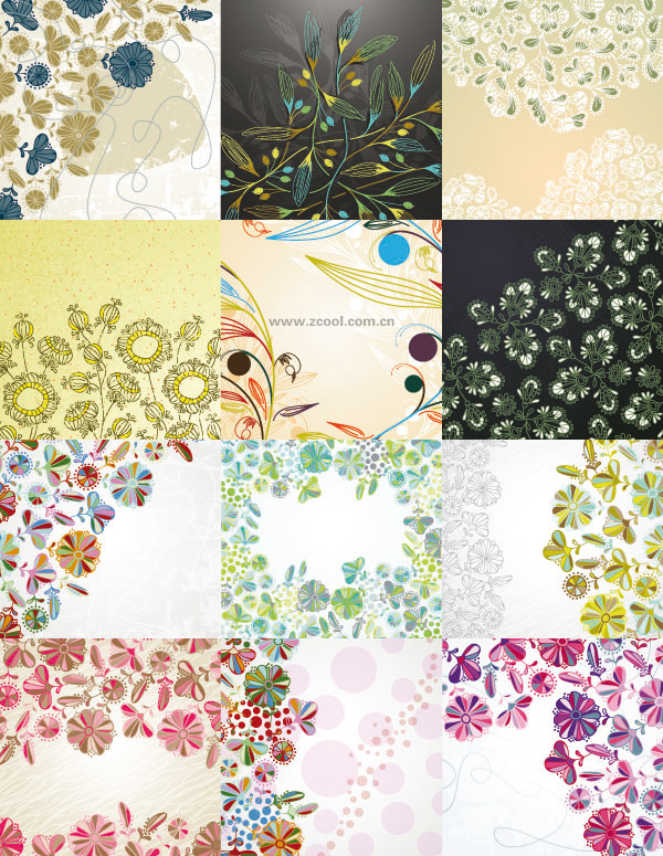 floral-background-Vector